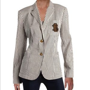 NWT Winter Cream embroidered stripped blazer